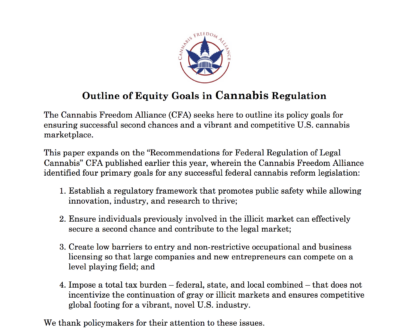 Cannabis Freedom Alliance Releases New…