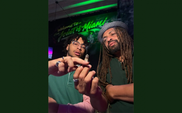 """photo of Cannabis Trailblazer Ed """"NJWeedman"""" Forchion Passes The Joint to His Son, King Forchion, with His Miami Expansion image"""