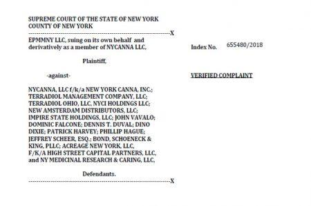 photo image Acreage Holdings Named in $400 Million New York Cannabis Lawsuit