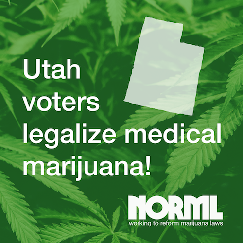 photo image Voters Approve Proposition 2, Legalizing Medical Marijuana Access in Utah